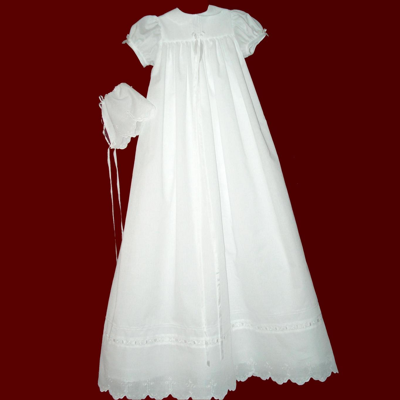 Girls christening gowns smocked treasures for Making baptism dress from wedding gown