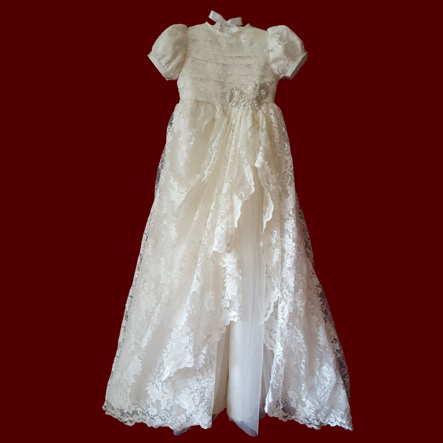 Christening Gown Made From Your Wedding Dress - Girls Detachable ...
