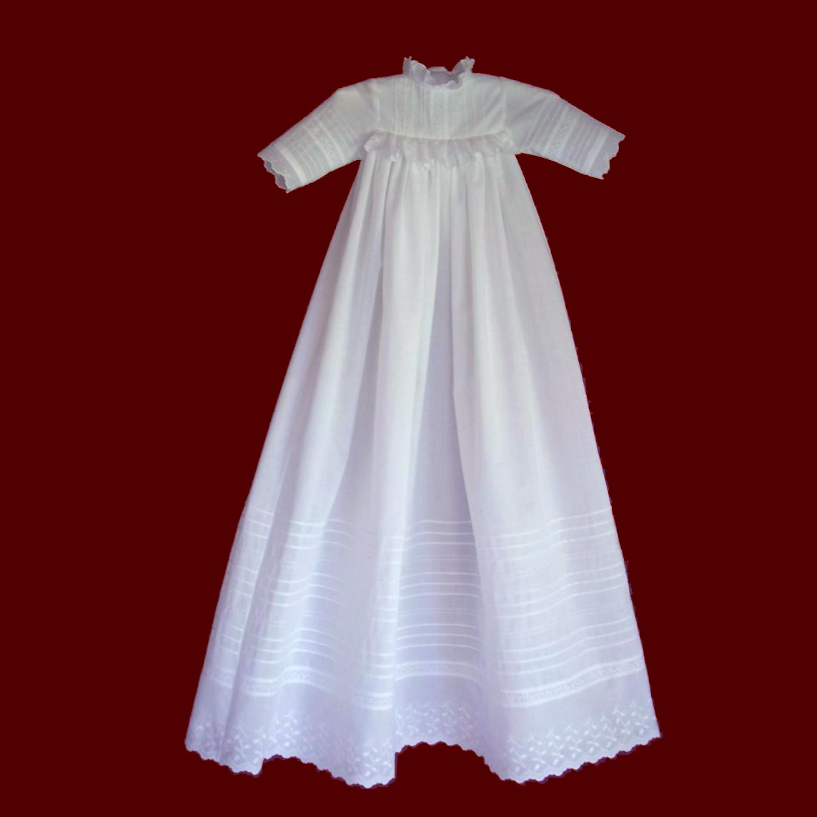 Christening Gowns From Wedding Dresses: Heirloom Christening Gown With Tucks