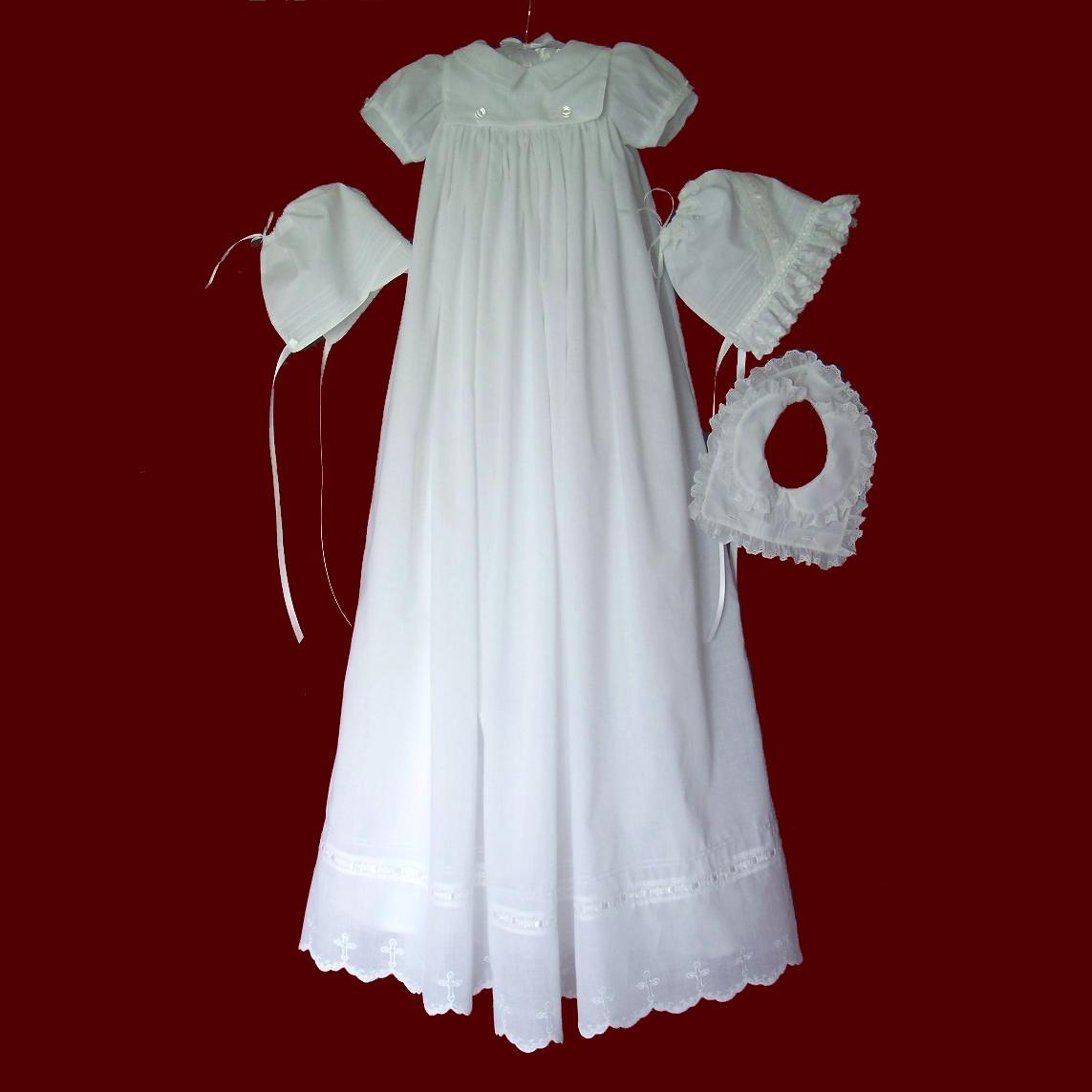 Heirloom Christening Gown With Boy & Girl Detachable Bibs - Boys ...