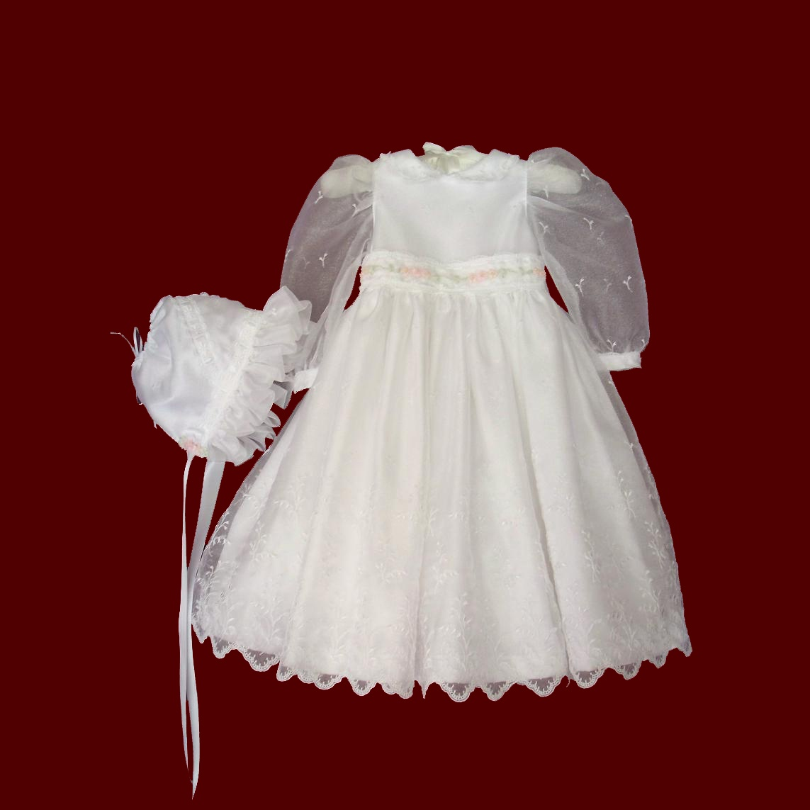 Iridescent Organza Christening Dress For Toddlers/Adoptions