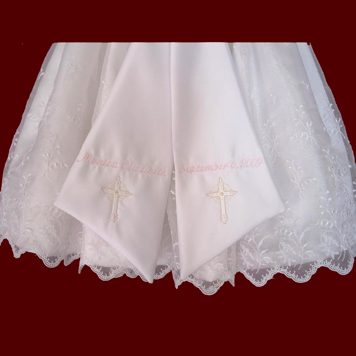 c8044f64f Iridescent Organza Christening Dress For Toddlers/Adoptions - Girls ...