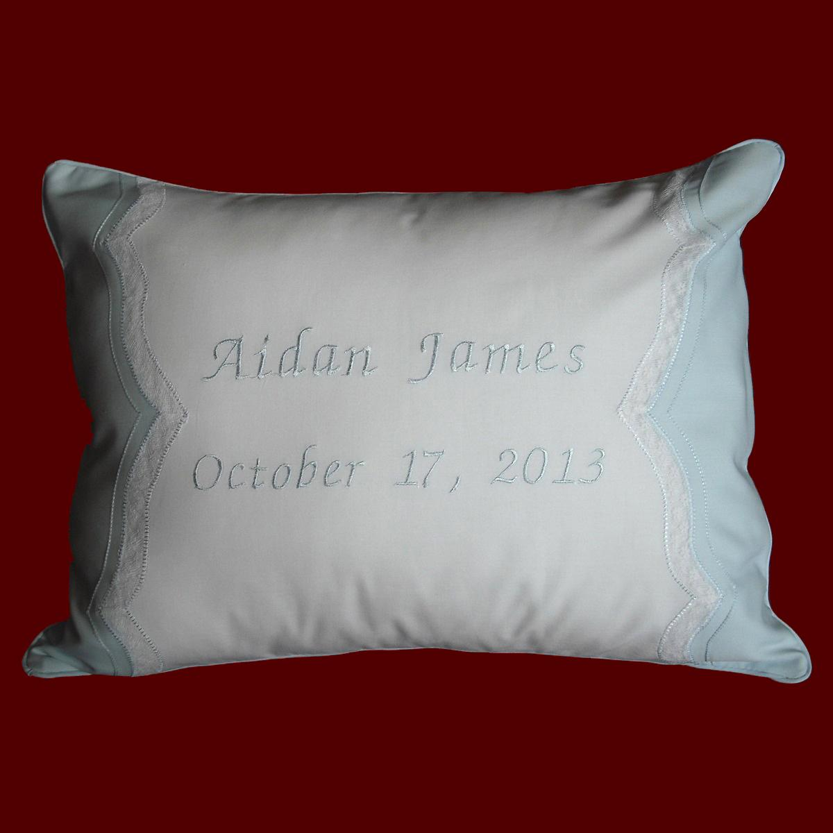 Keepsake Personalized Baby Pillow Christening Pillows