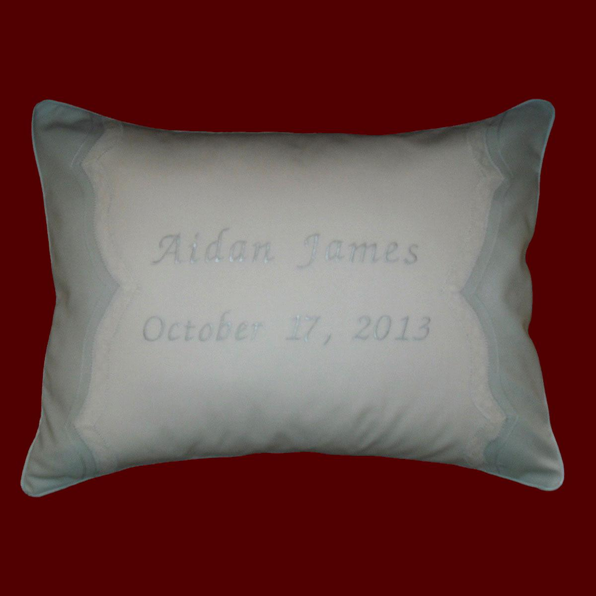 Keepsake Personalized Baby Pillow Christening Pillows