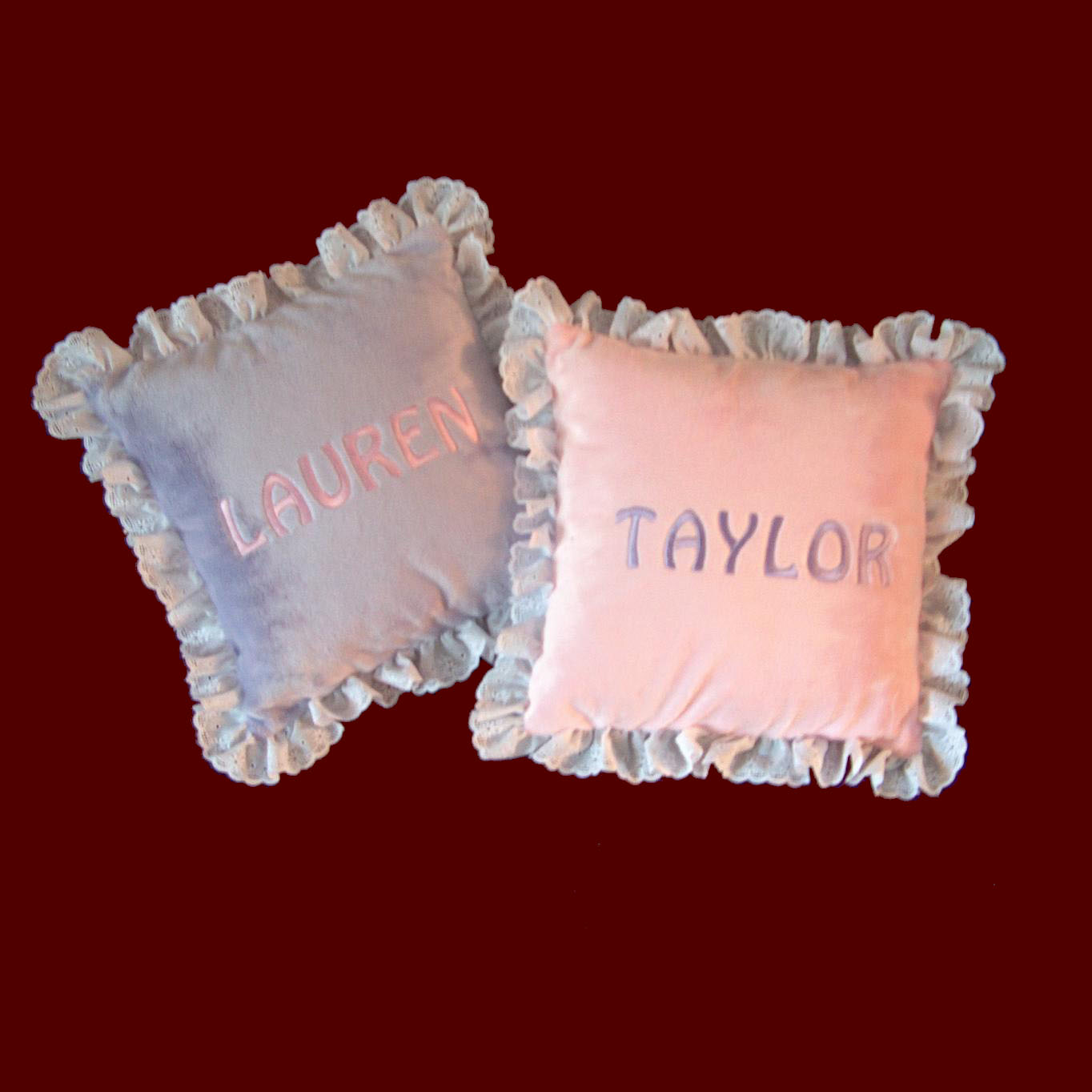 Click to Enlarge Picture - Personalized Minky Pillow - (Small)