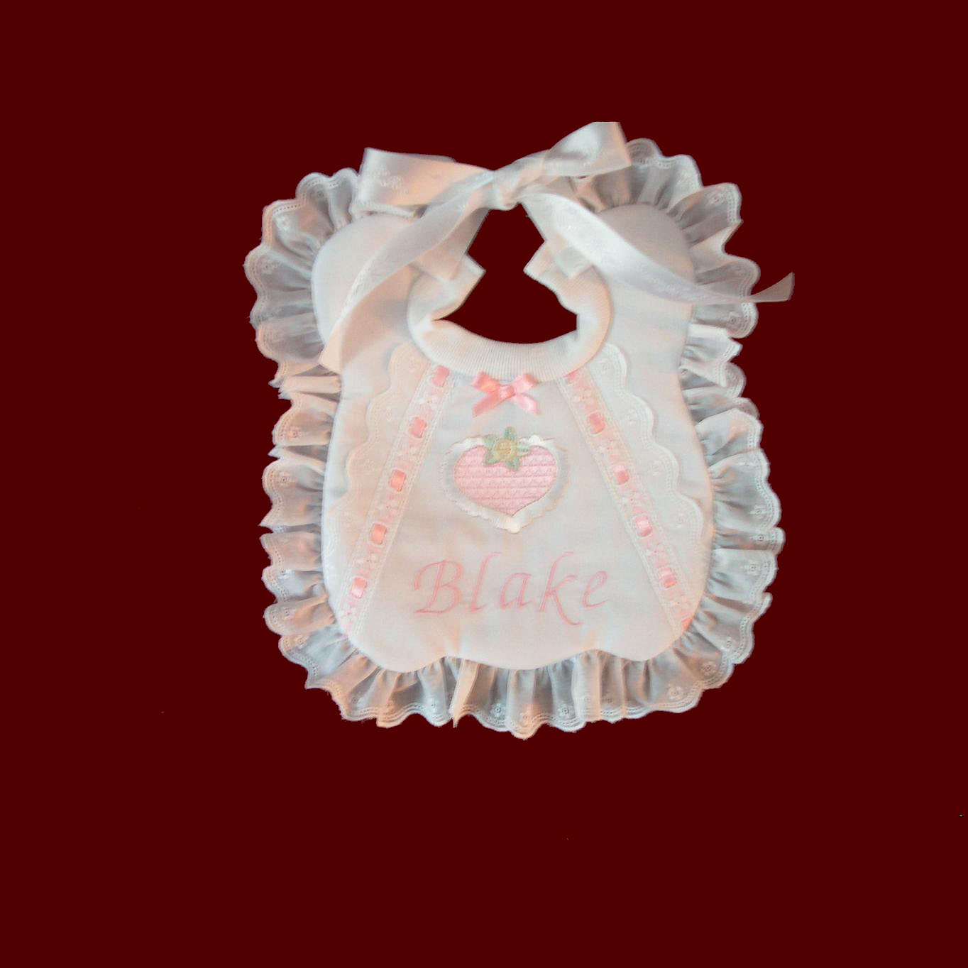 Personalized Girl Bib