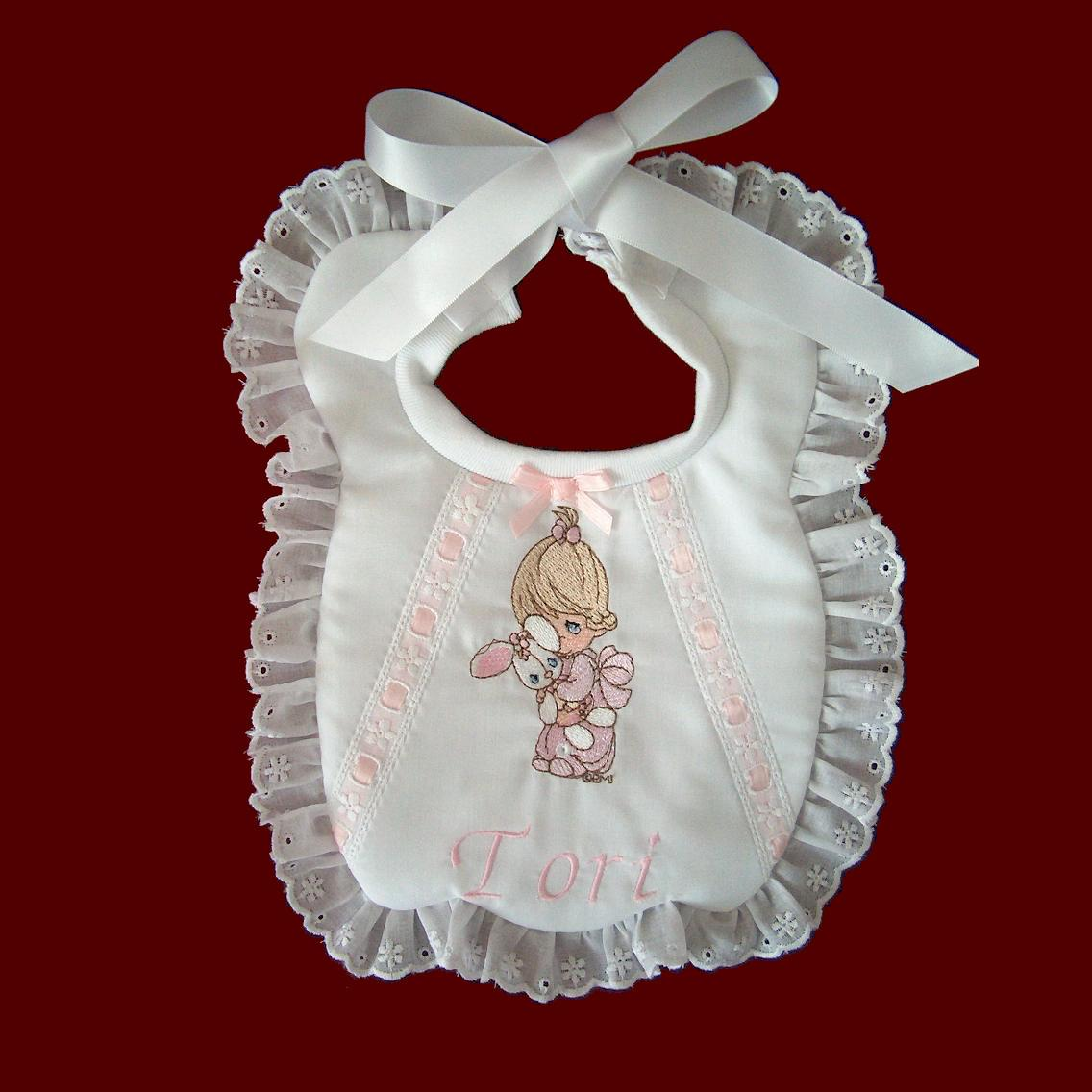 Precious Moments Girls Personalized Bib