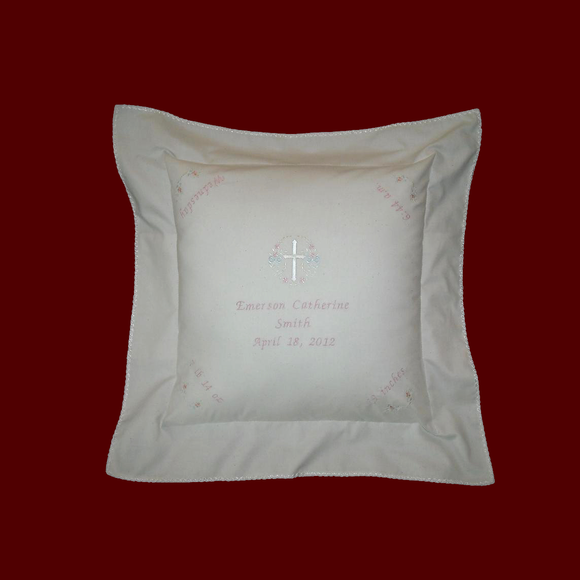 Muslin Keepsake Personalized Baby Pillow