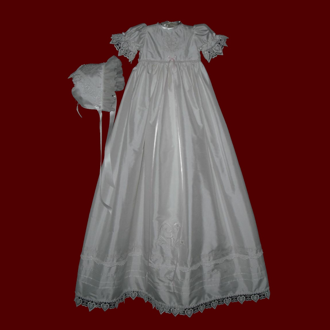 Click to Enlarge Picture - The Hail Mary Christening Gown for Girls