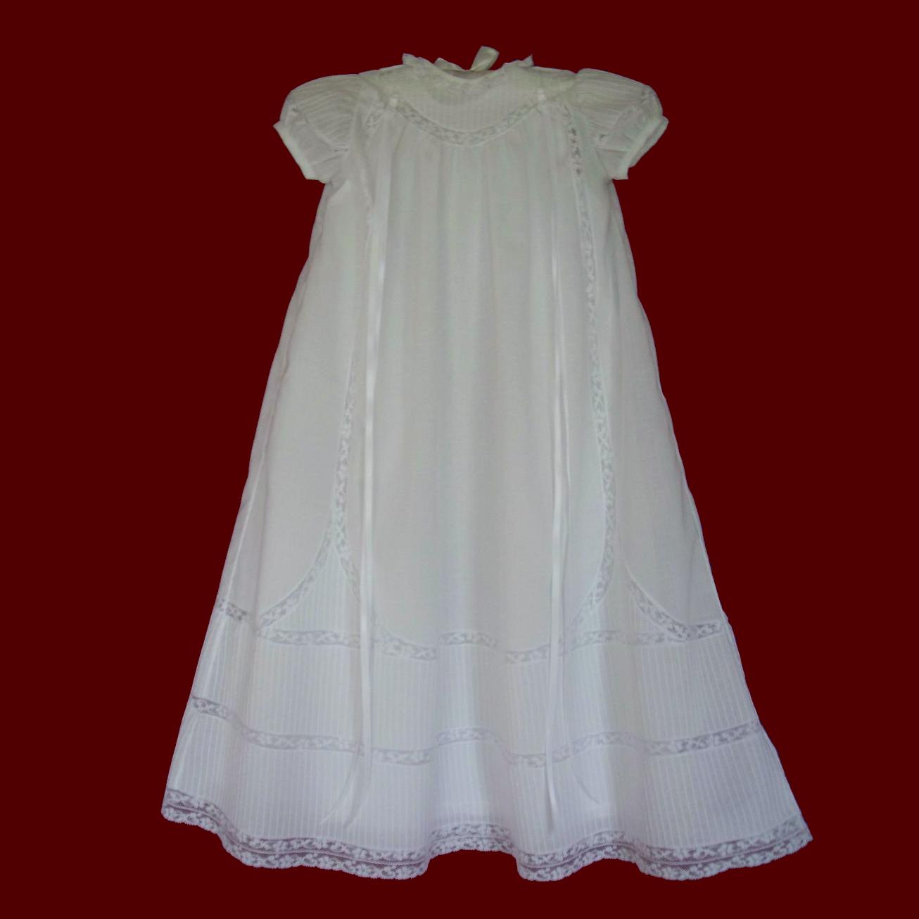 1d731cd9755f Pintucks & Lace Heirloom Christening Gown, Slip & Bonnet - Girls ...