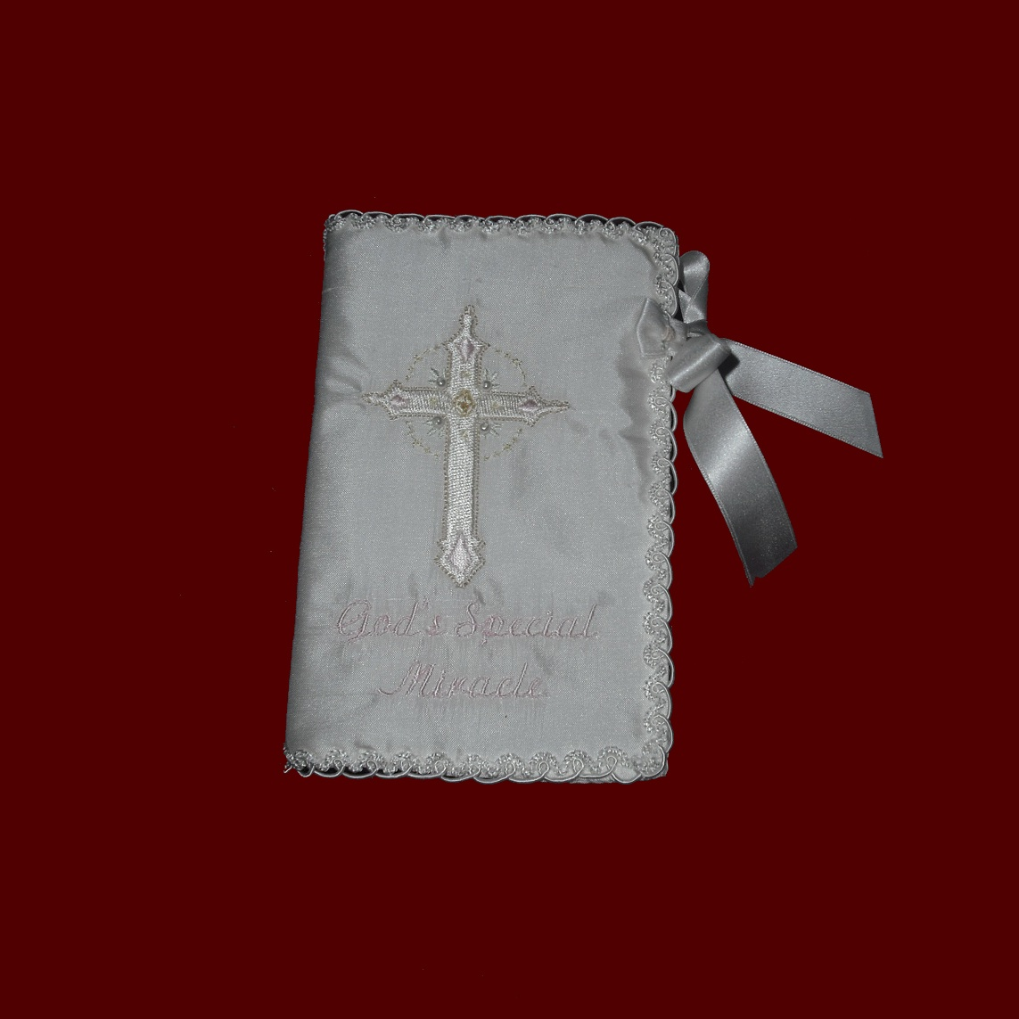 Girls Keepsake Bible With Embroidered Cross Communion
