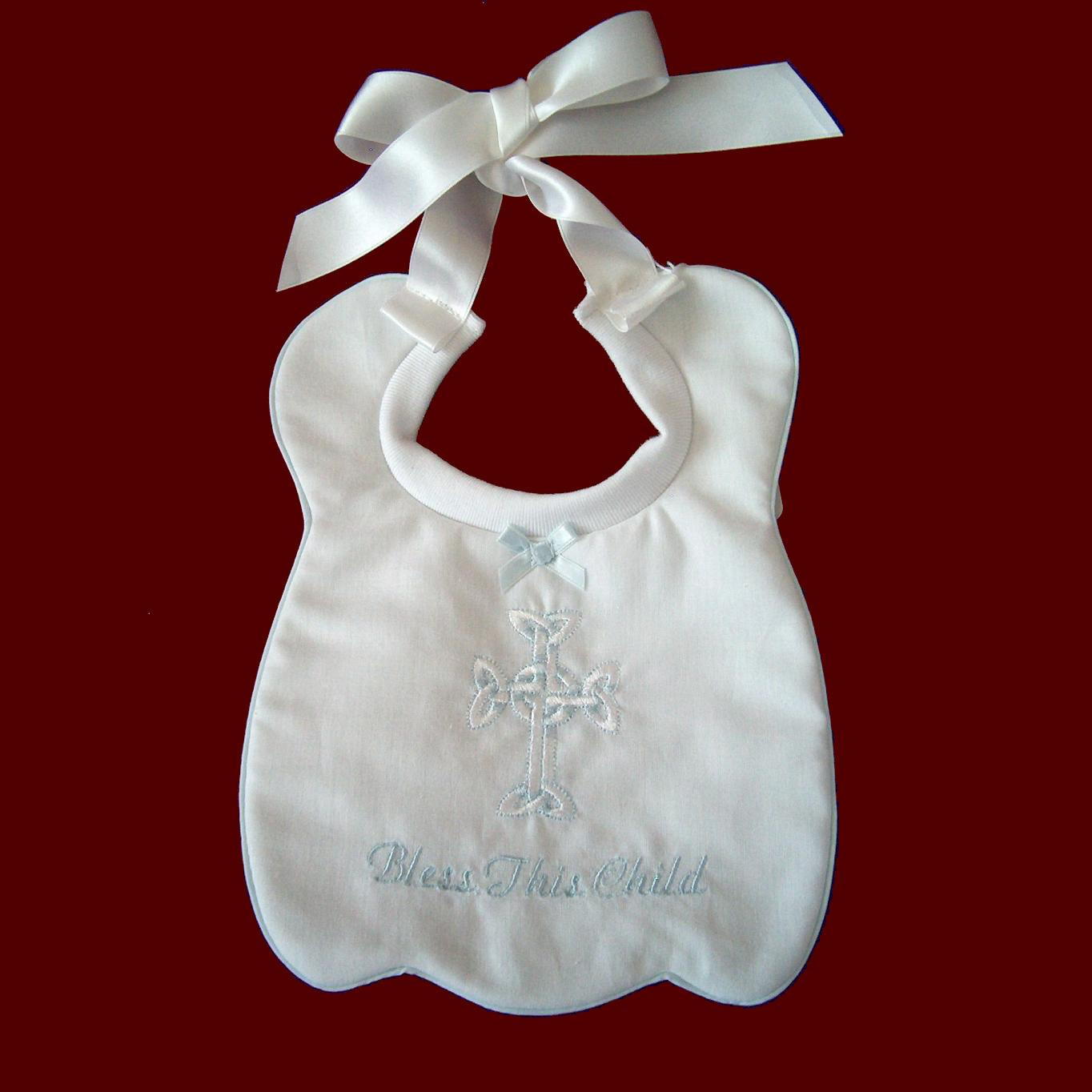 Bless This Child Boys Christening Bib