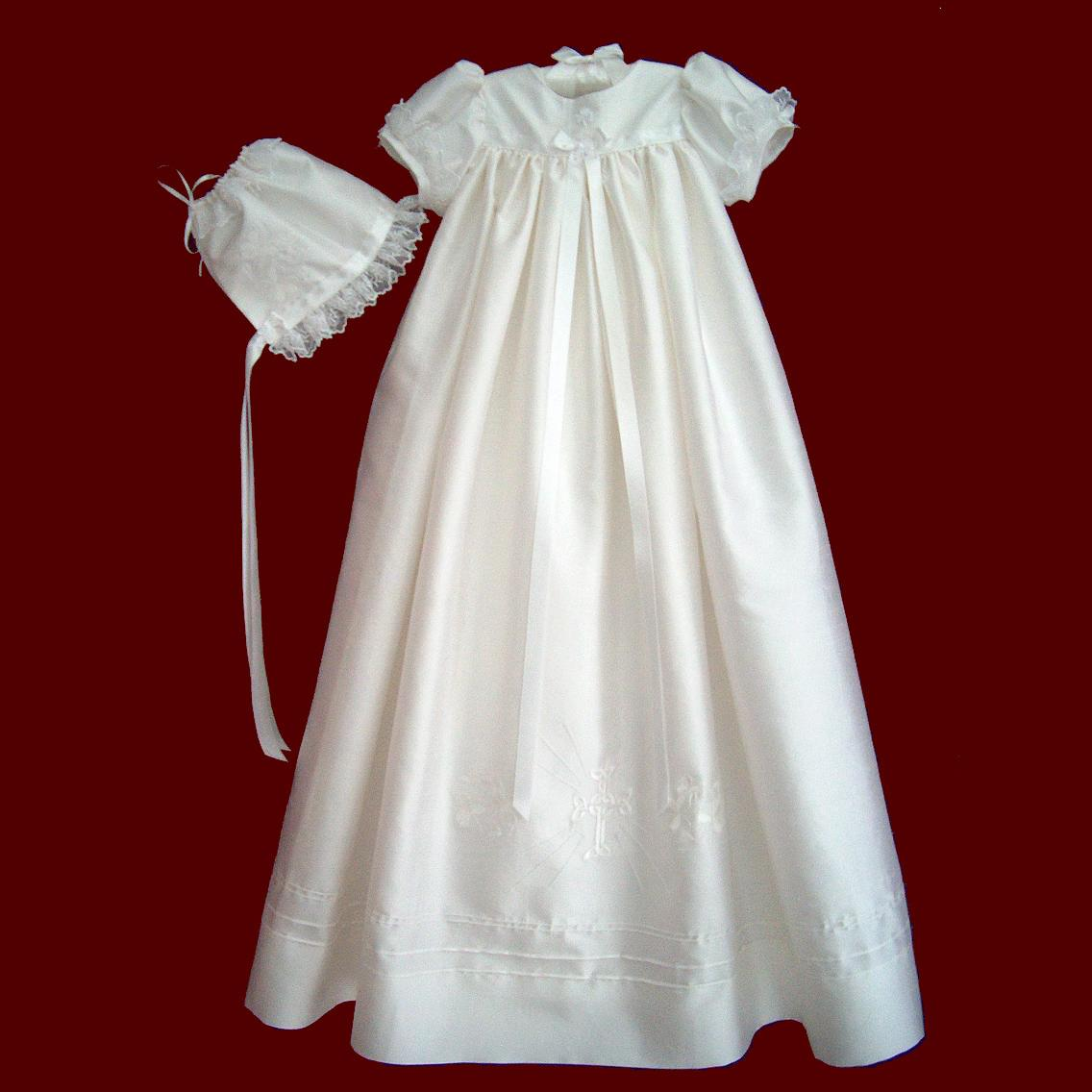 Silk Dupione Christening Gown With Celtic Cross - Irish Girls ...