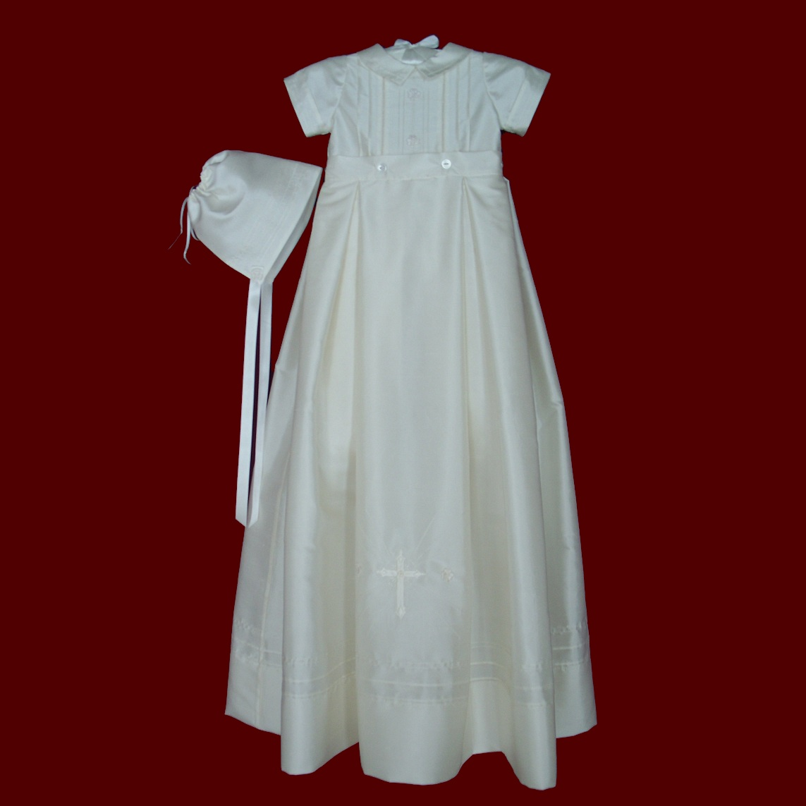 Boys Christening Romper With Detachable Gown & Hat With Irish Accents