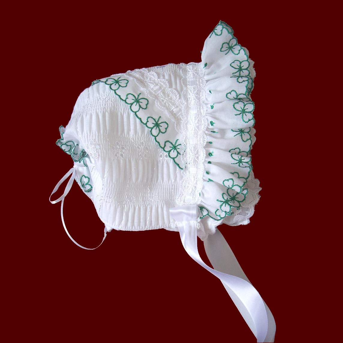 Shamrock Lace Heirloom Bonnet