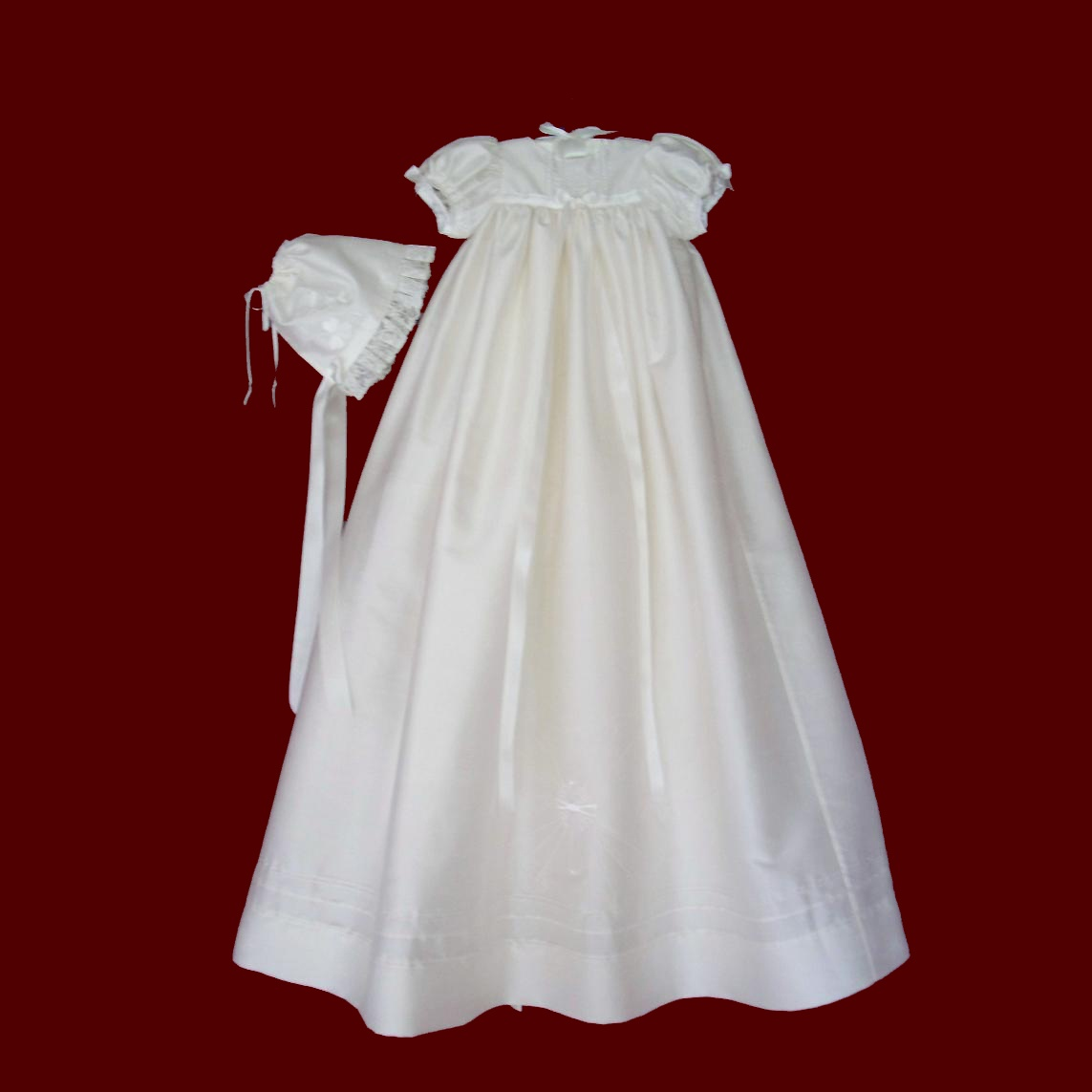 Embroidered Celtic Cross & Claddagh Christening Gown - Irish Girls ...