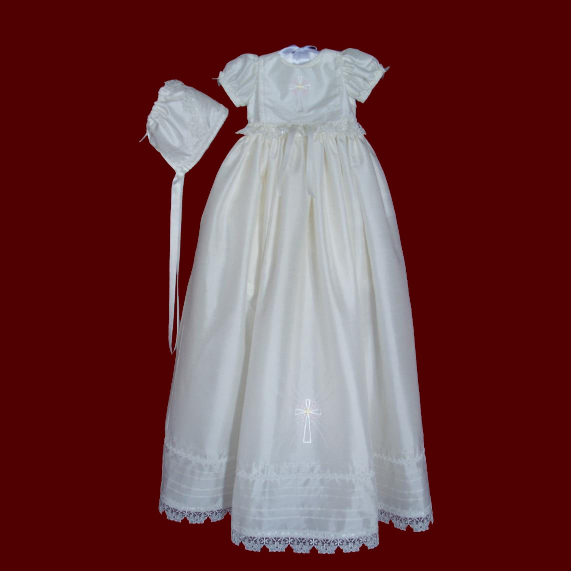 Silk Irish Girls Detachable Gown & Bib