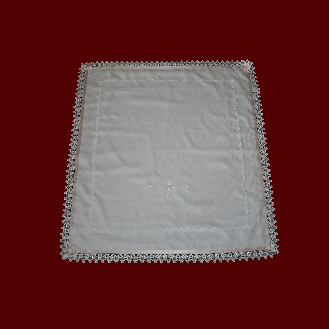 Irish Linen Gaelic Christening Blessing Blanket