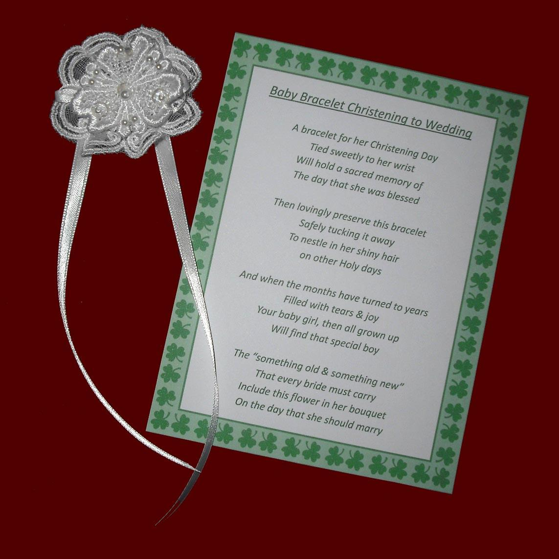 Irish Christening Bracelet to Wedding Keepsake