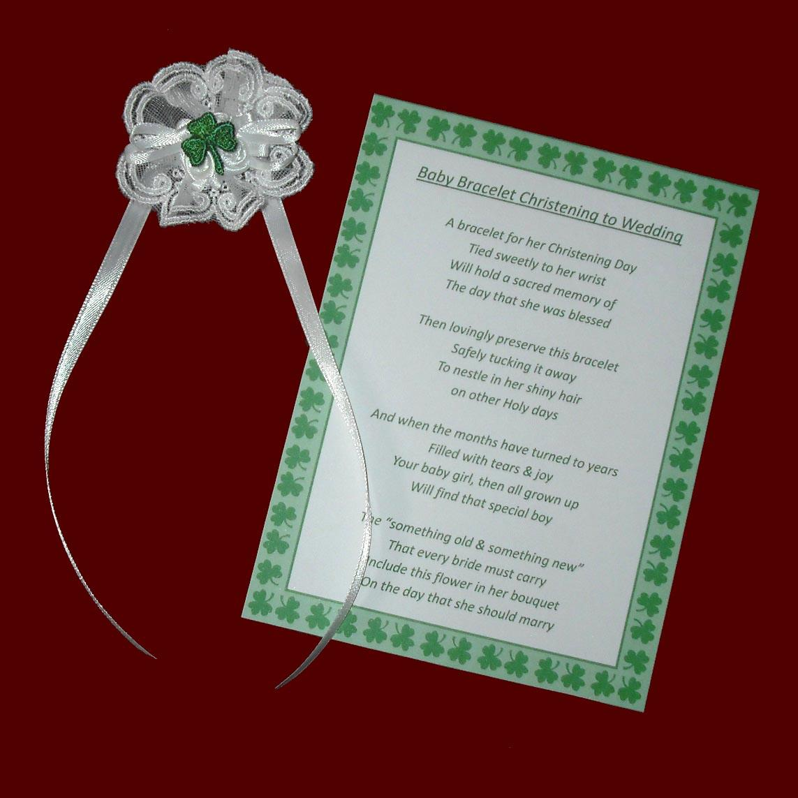 Irish Christening Bracelet to Wedding Keepsake - Irish Christening ...