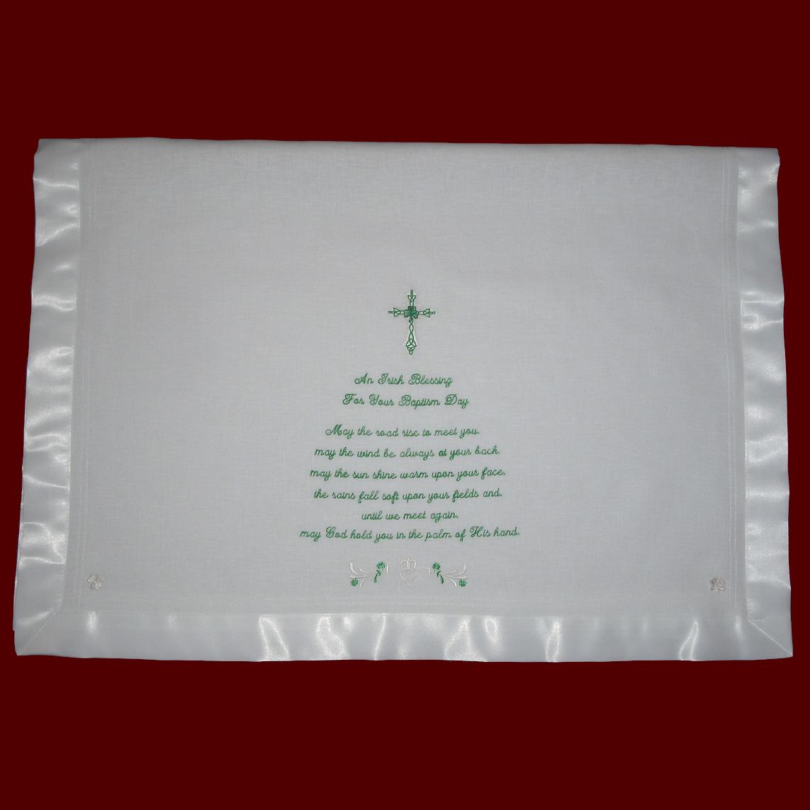 An Irish Blessing Keepsake Christening Blanket
