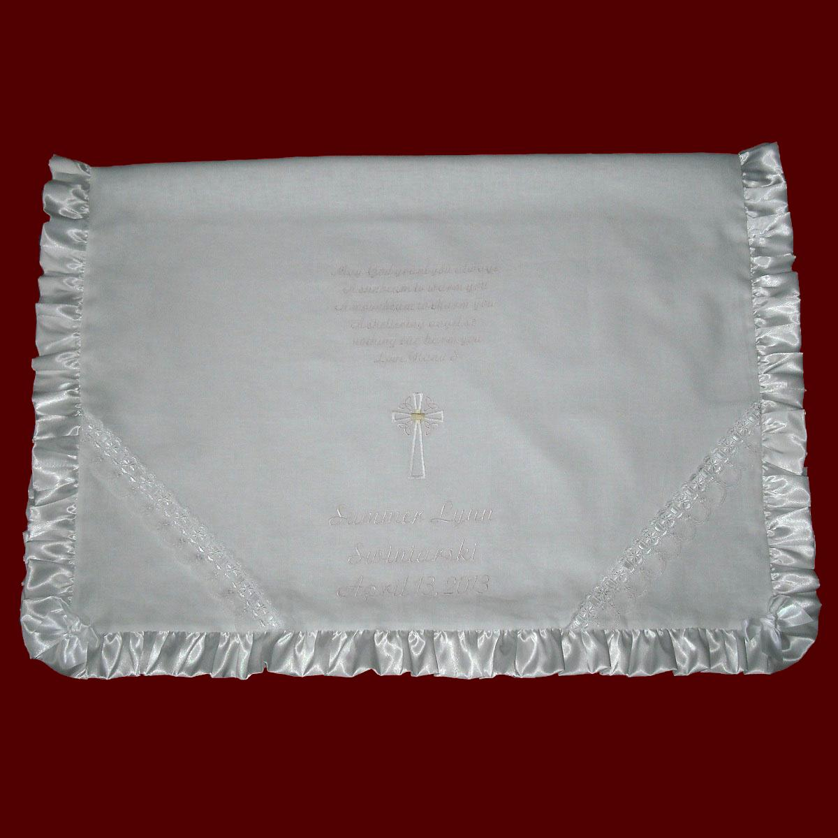 May God Grant You Always...Irish Blessing Christening Blanket