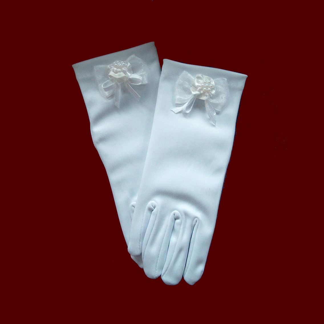 Communion Gloves With Bow