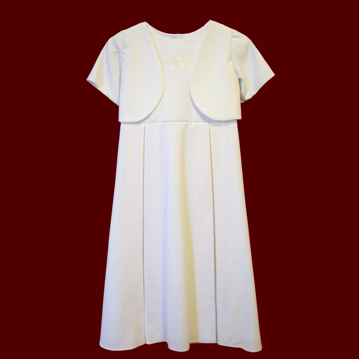 Linen Communion Dress With Optional Jacket
