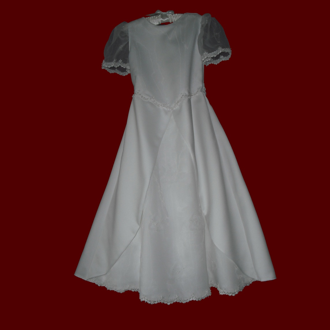 Irish Communion Dress With Embroidered Trinity Knots