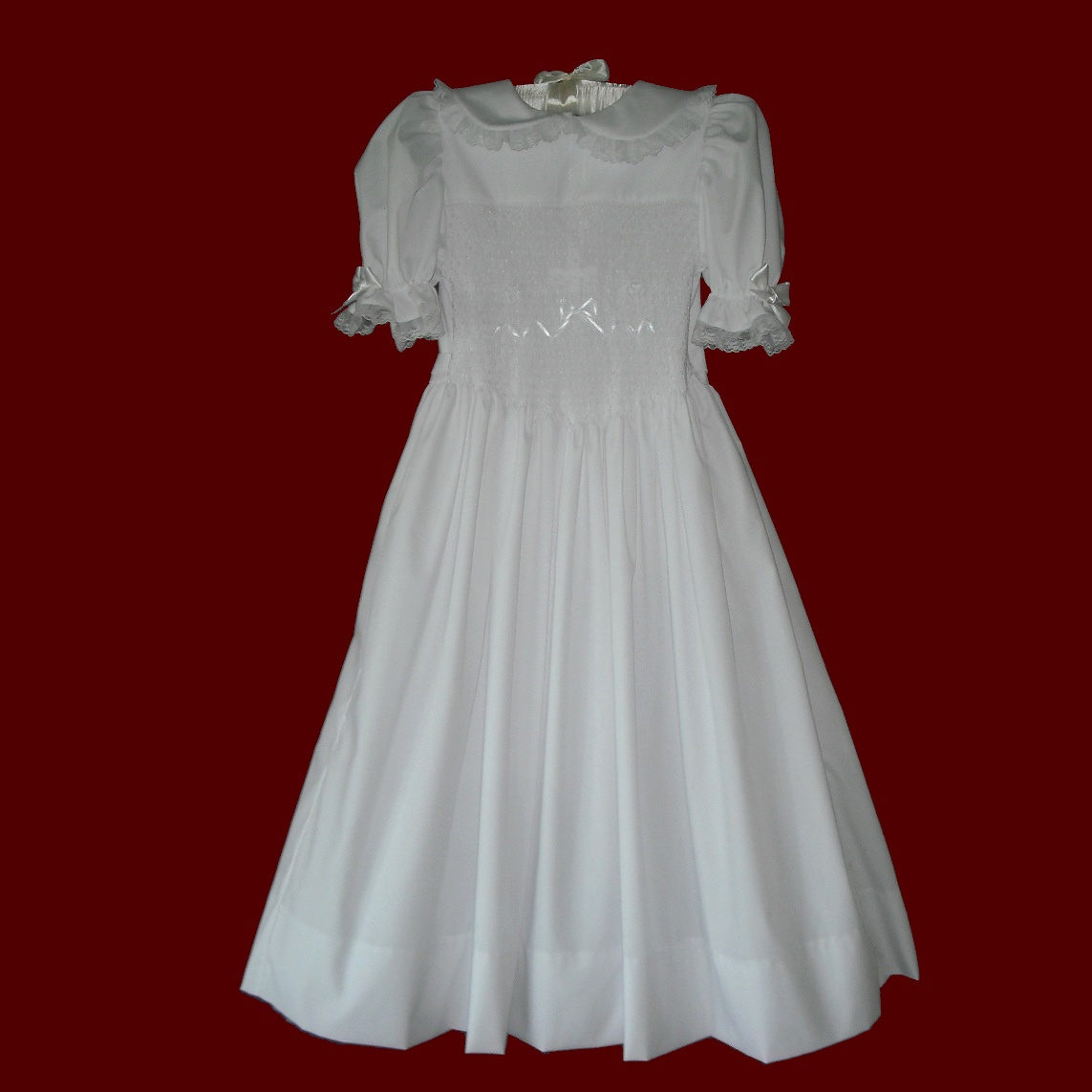 Hand Smocked Communion Dress - Irish Girls Communion
