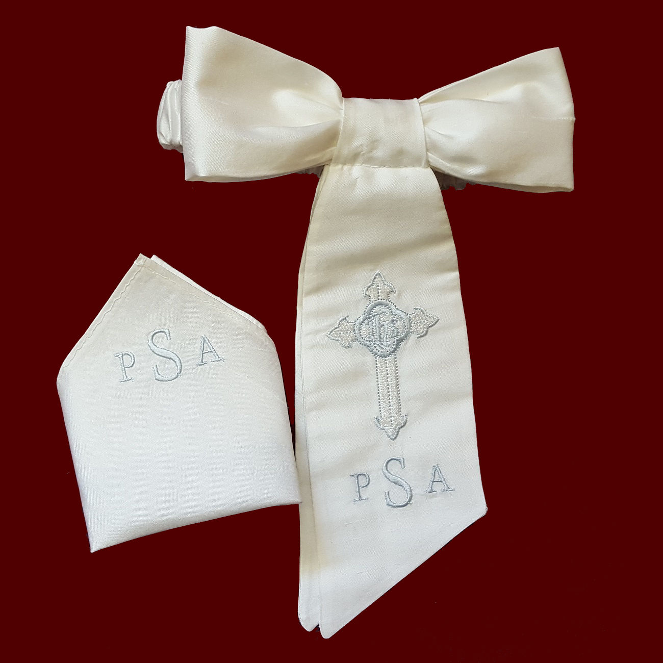 Boys Communion Armband & Pocket Square Set - Boy Communion ...