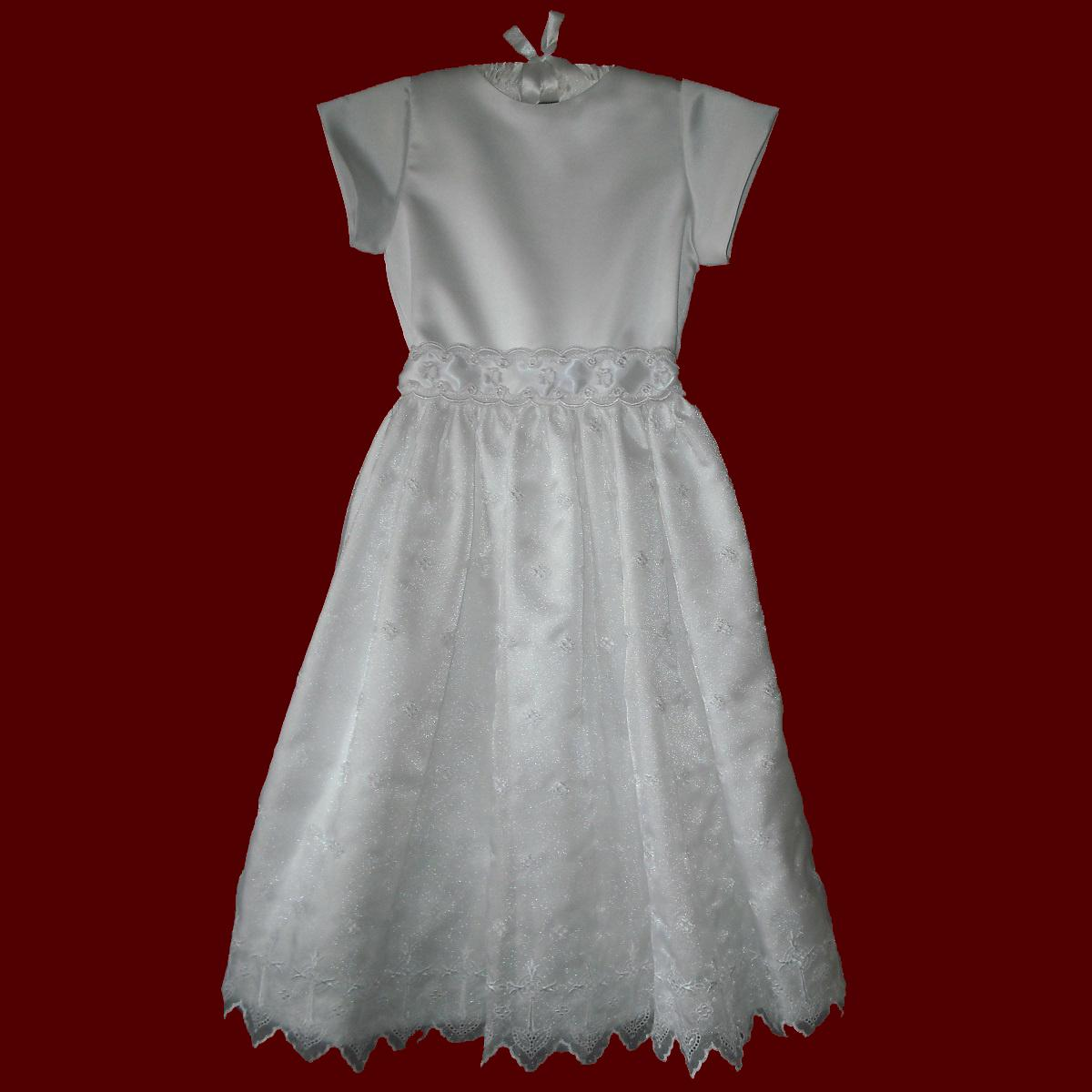 Embroidered Crosses Irish Girls Communion Dress