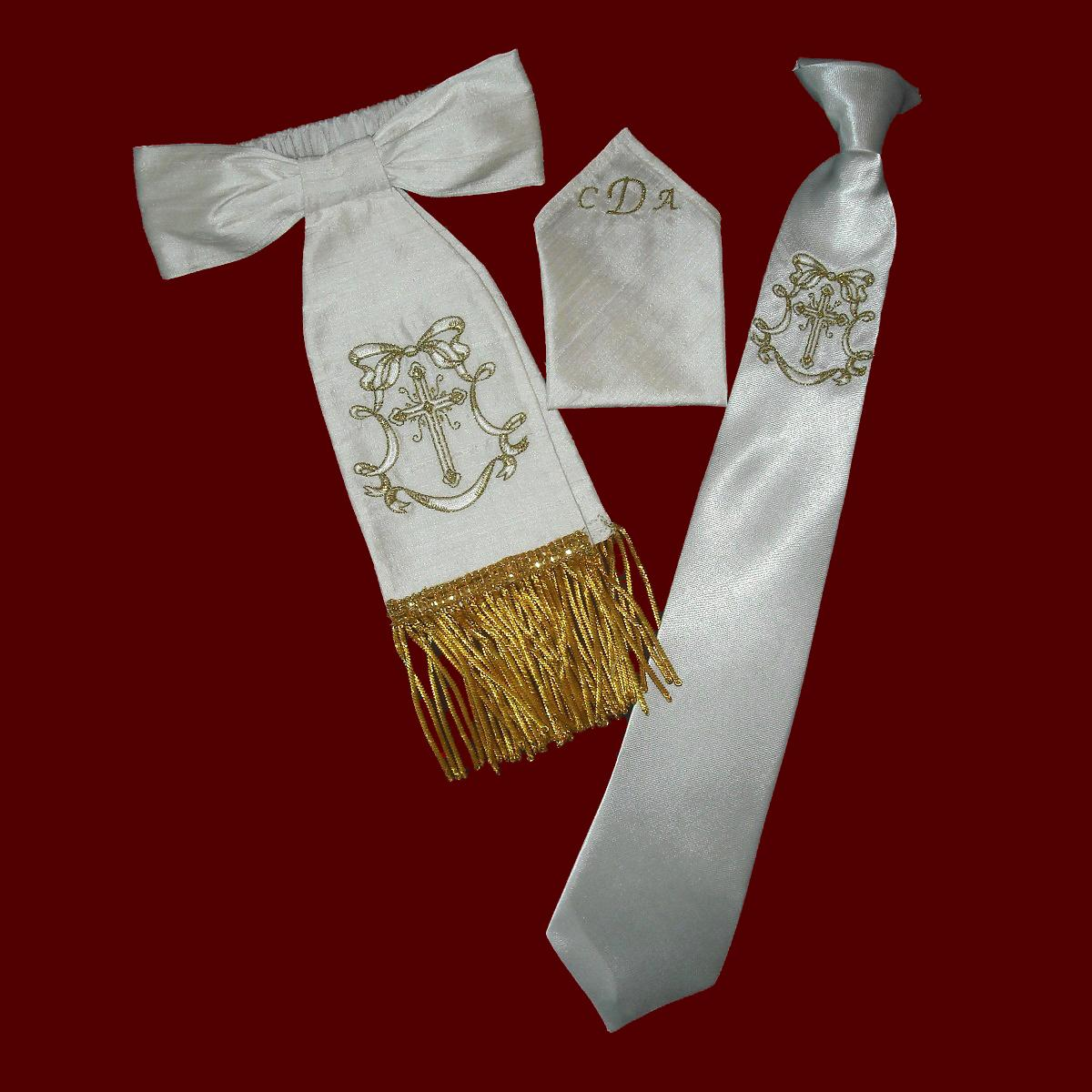 Boys Communion Gift Set With Metallic Fringe