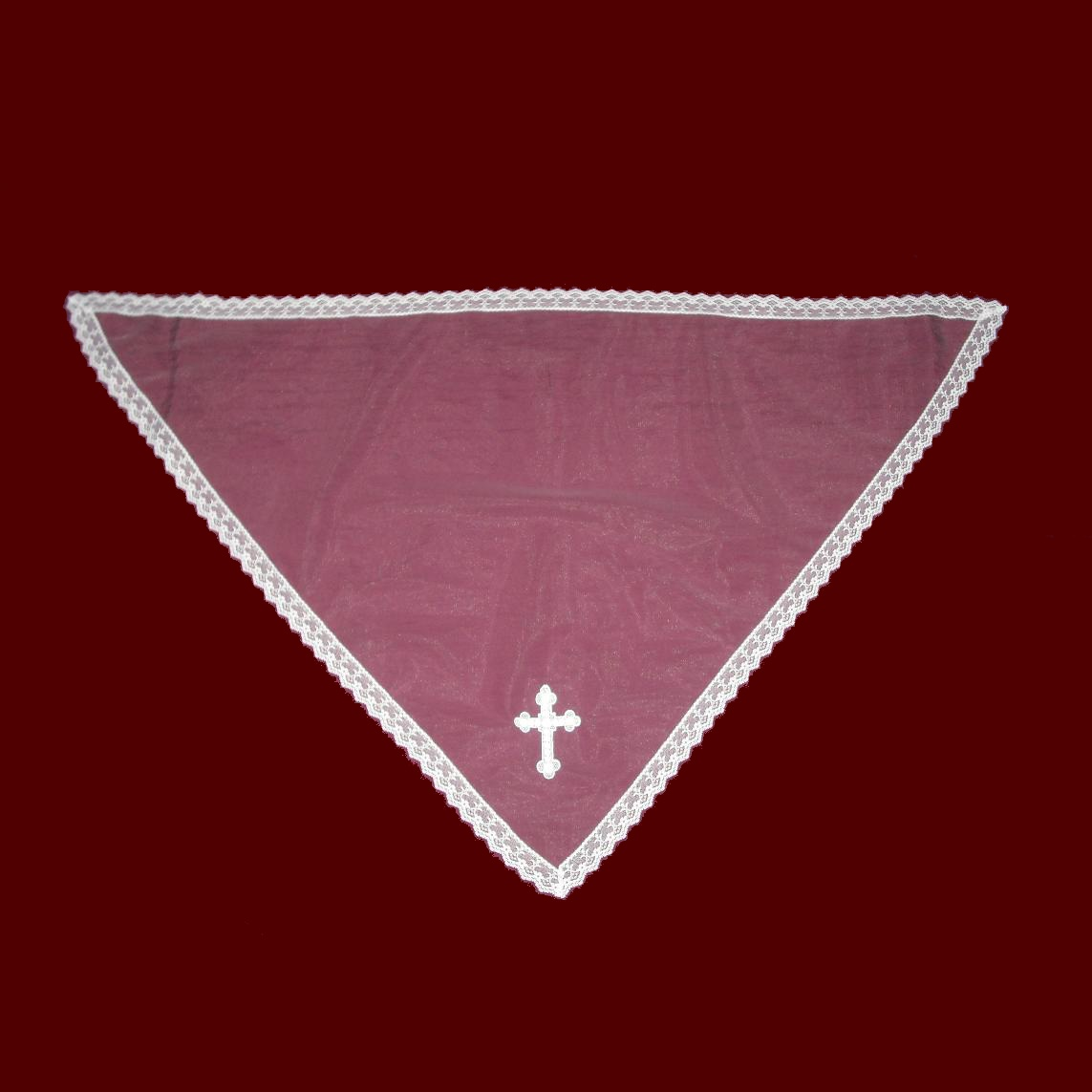 Communion Mantilla With Venice Cross & Lace