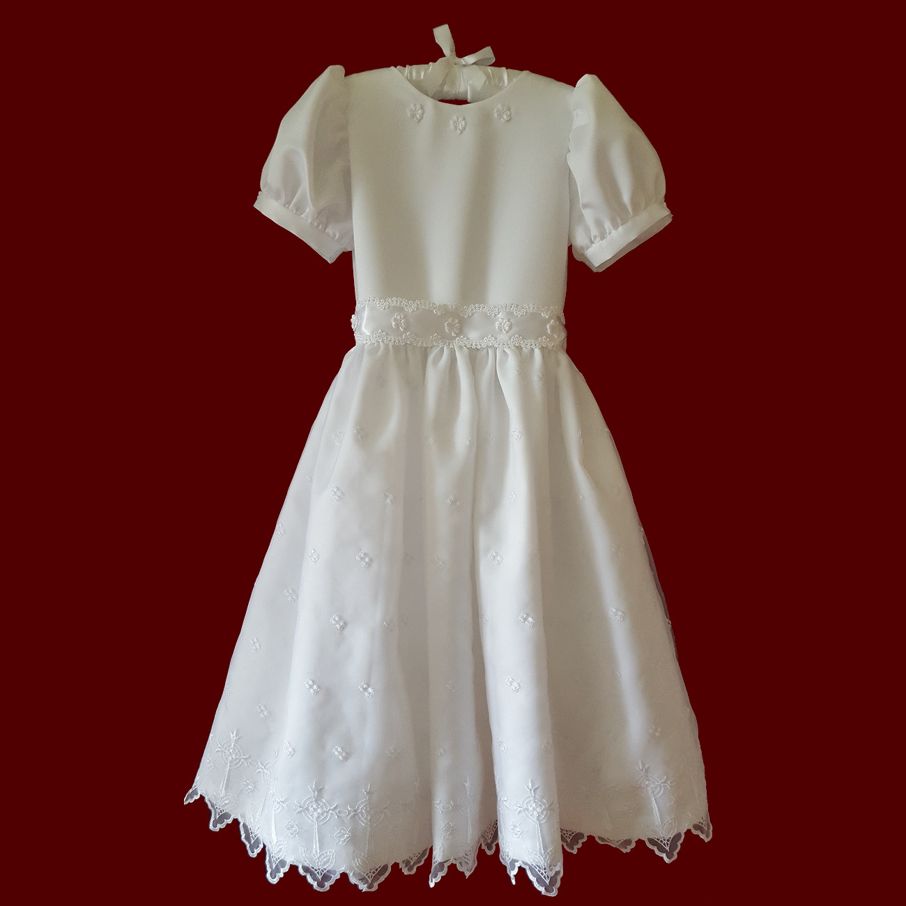 Irish Organza With Crosses Communion Dress
