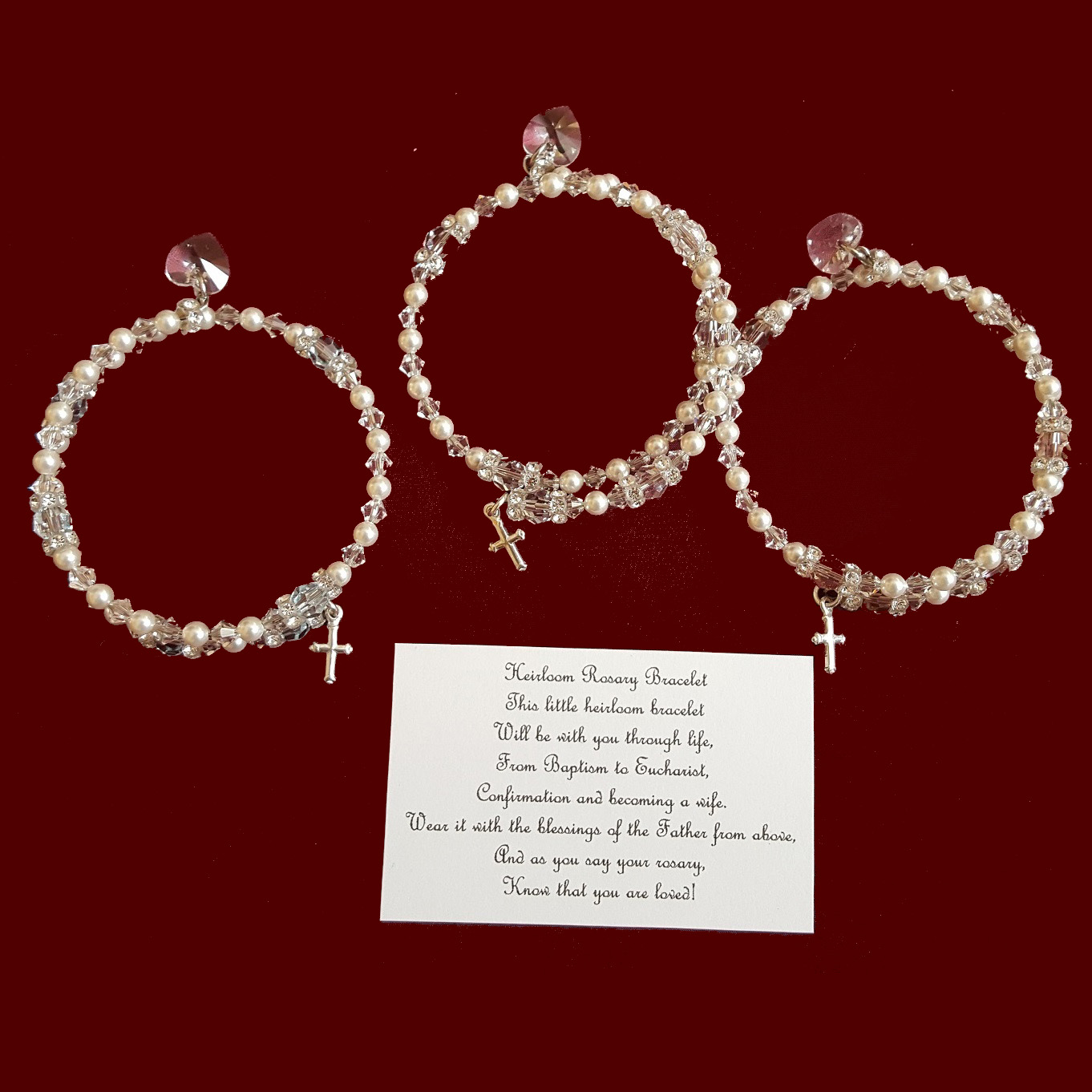 Swarovski Crystal & Pearl Wrap Rosary Bracelets