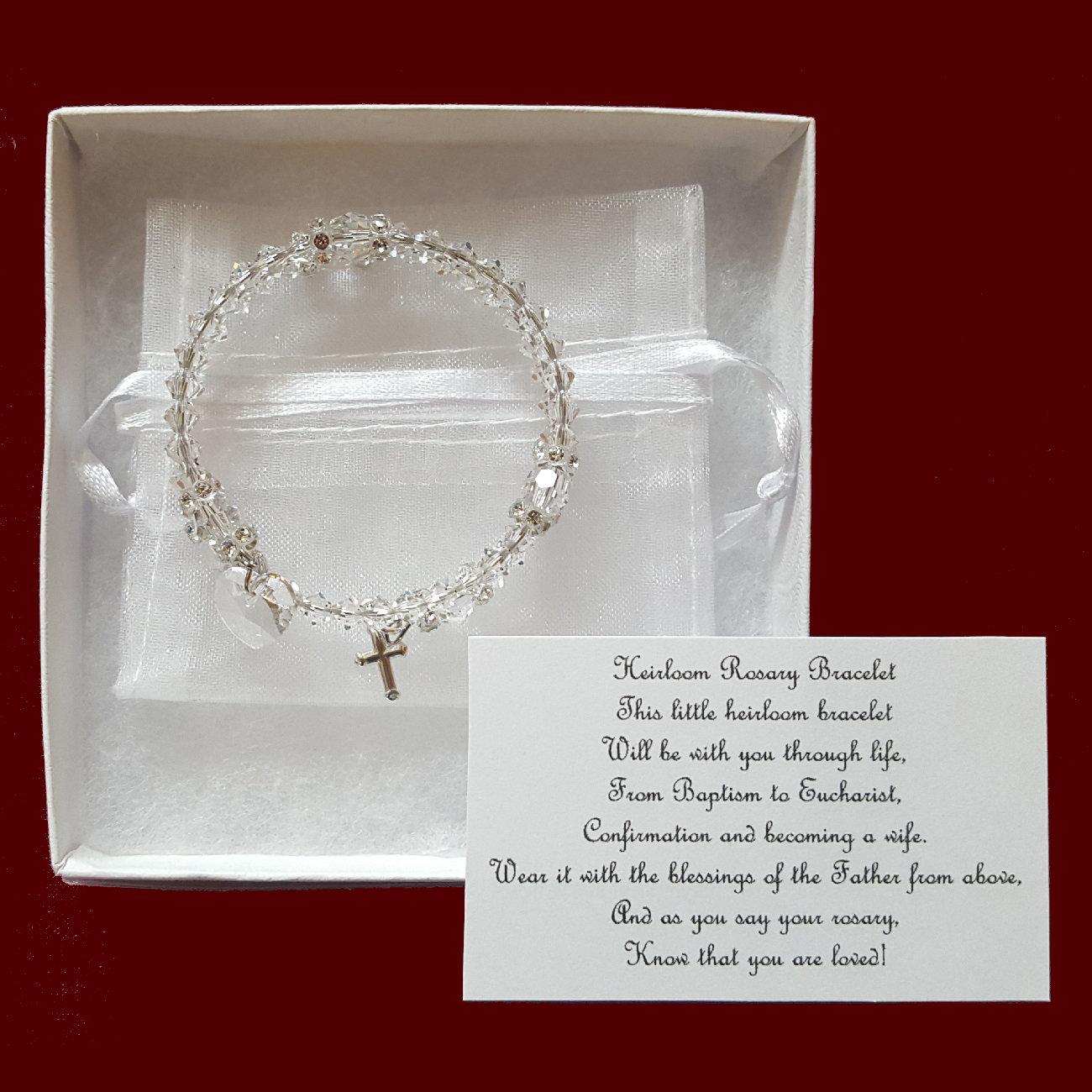 40c095b08 Full Crystal Rosary Bracelet - Wedding Accessories - Smocked Treasures