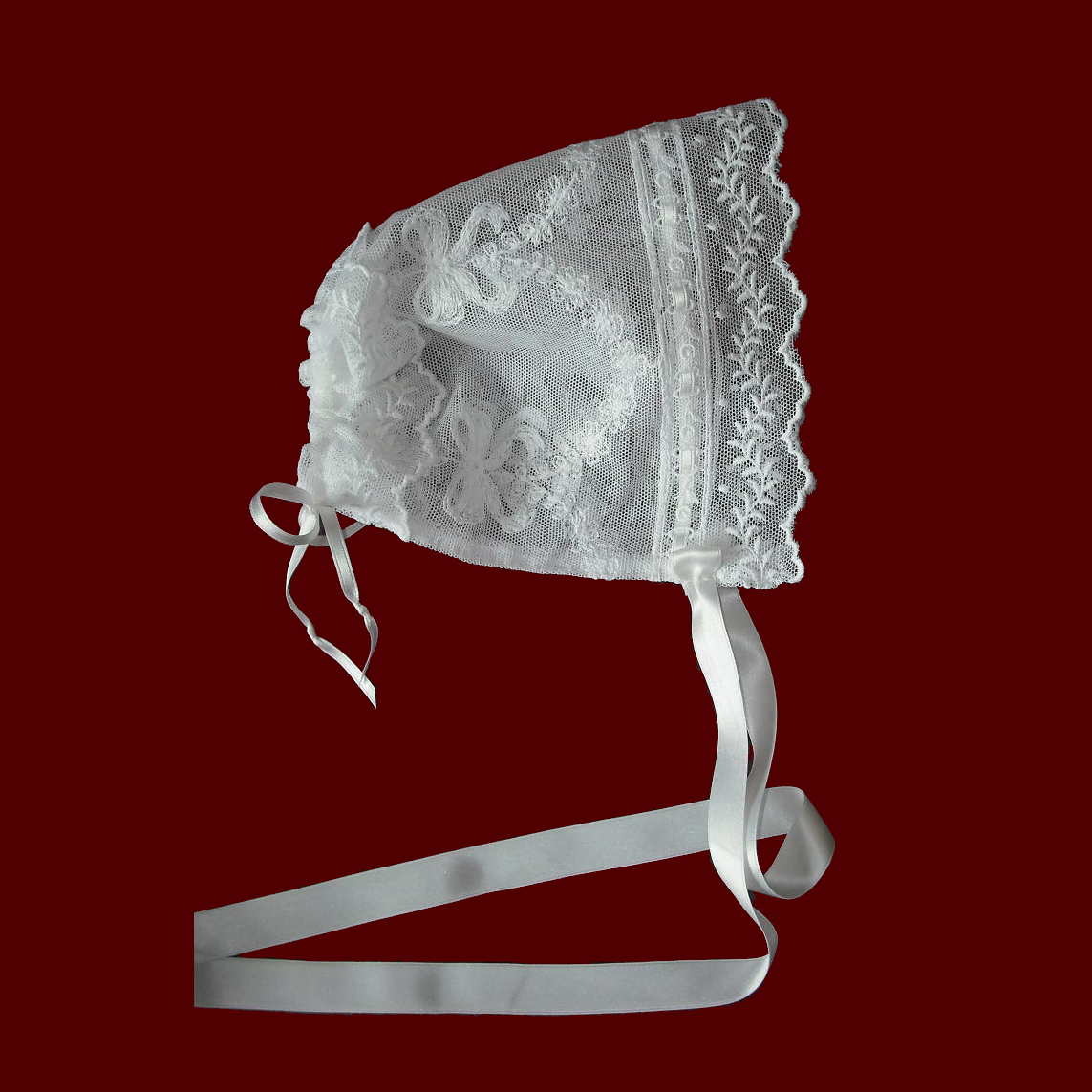 English Netting Lace Bonnet