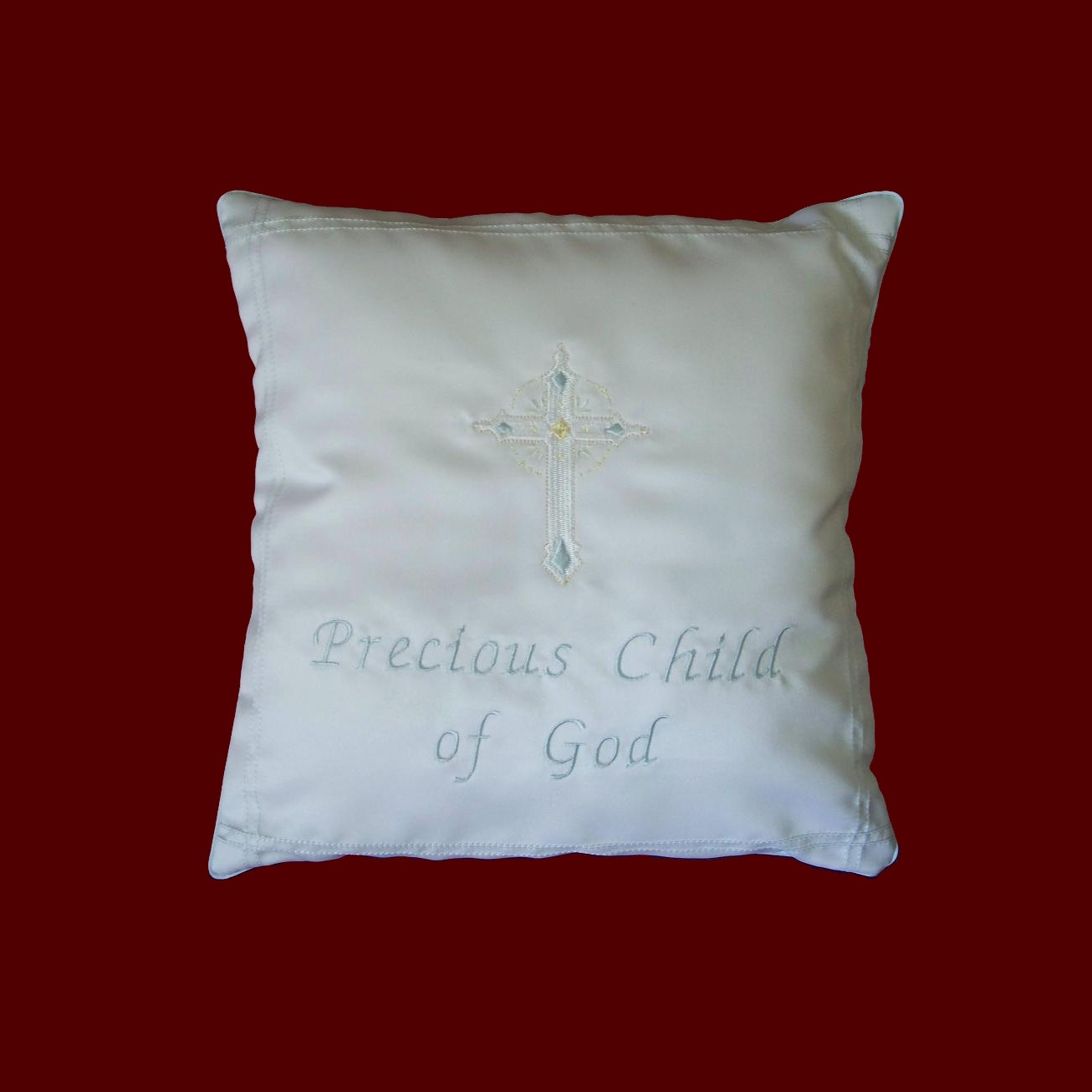 Precious Child of God Christening Pillow