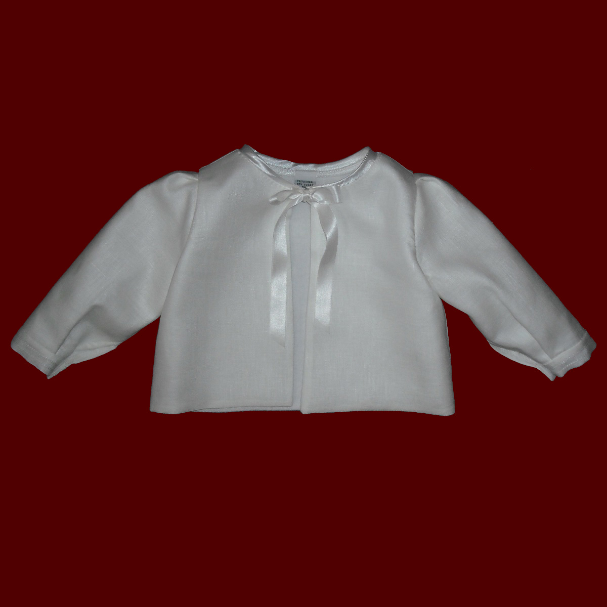 Baby Christening Jacket With Optional Bonnet