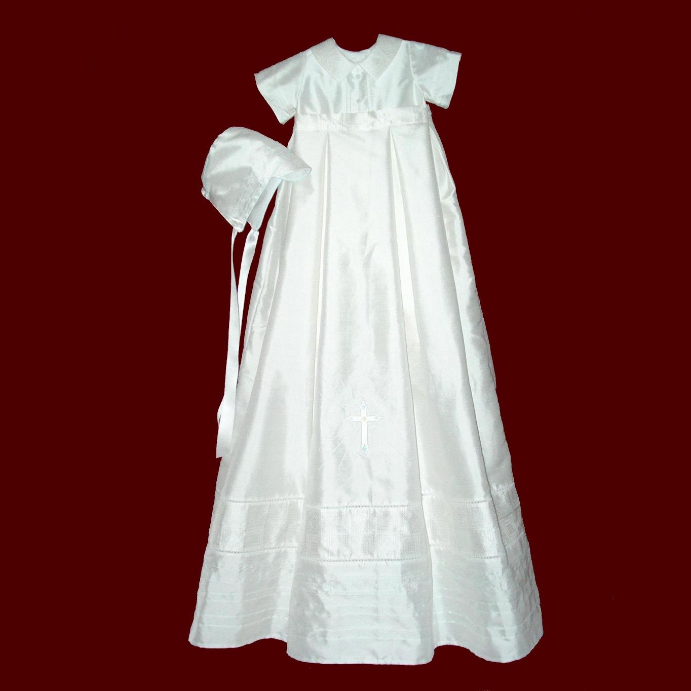 Boys Silk Christening with Detachable Gown and Vest