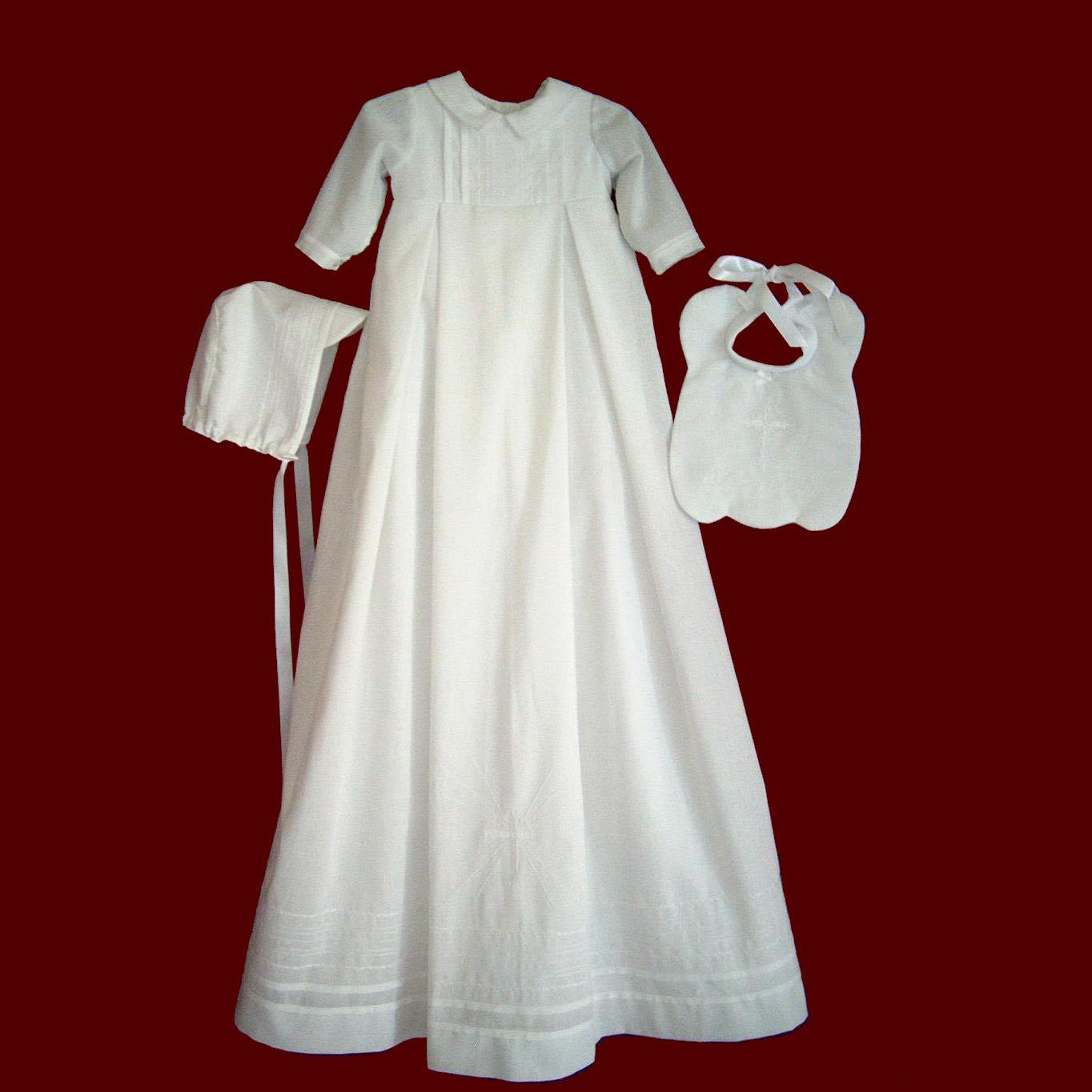 Linen Batiste Boys Christening Gown - Boys Gowns & Detachable Gowns ...