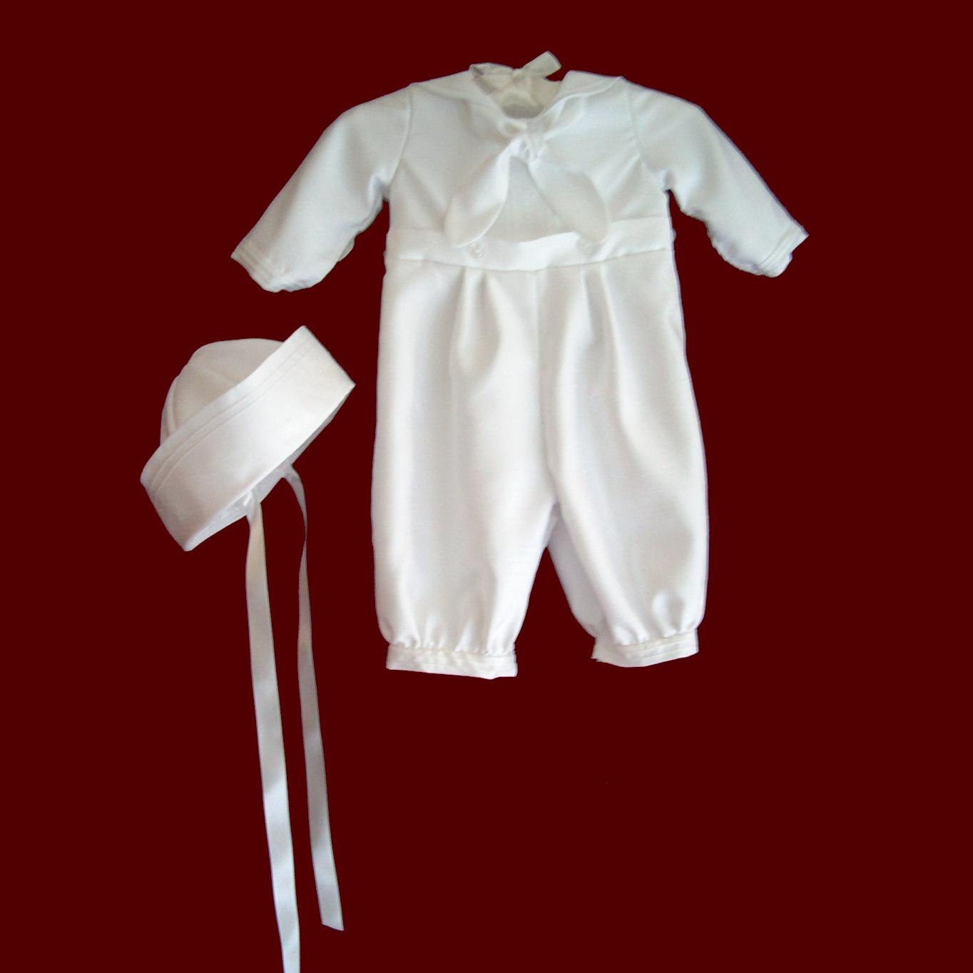 Sailor Christening Romper & Hat