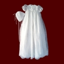 Beaded Organza Christening Gown With Bonnet