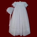 Embroidered Eyelet Voile Christening Gown