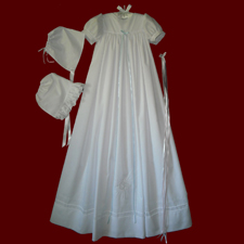 Unisex Embroidered Cross Christening Gown