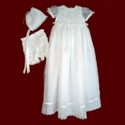 Click to Enlarge Picture - Girls Embroidered Organza Christening Ensemble with Detachable Gown