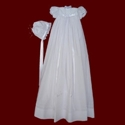 Christening Gown with Embroidered Cross & Shamrocks
