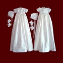 Click to Enlarge Picture - Boy and Girl Christening Ensemble with Detachable Bibs & Gown With Accessories
