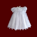 Ankle Length Embroidered Organza With Crosses Gown